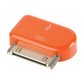 Value Line VLMP39900O, Micro USB na Apple 30pin adapter, narančasti