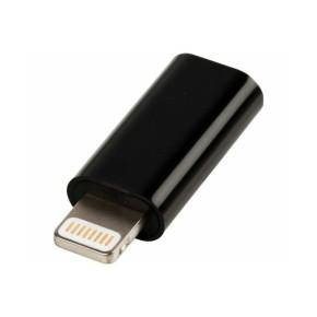 Value Line VLMP39901B, Micro USB na lightning adapter, crni