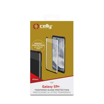 Zaštitno staklo za Samsung Galaxy S9 Plus 3D, crno, Celly