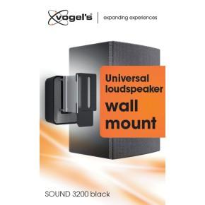 Zidni nosač za zvučnik, crni, Vogels SOUND 3200