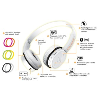 Bluetooth slušalice sa MP3 i NFC, crne, Creative Outlier
