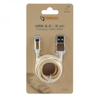 Kabel USB na lightning, Apple iPhone 7, 1,5 m, blister, zlatni, SBOX