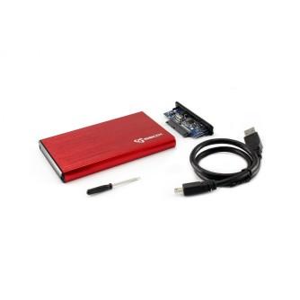 """Kućište za 2,5"""" hard disk, USB 3.0, crveno, SBOX HDC-2562"""