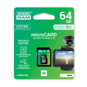 Micro SD kartica GOODRAM CLASS-10-U3/UHS-1 64GB Super Fast