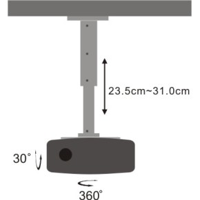 Stropni nosač za projektor, SBOX PM-102