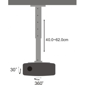 Stropni nosač za projektor, SBOX PM-102L