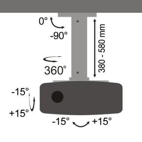 Stropni nosač za projektor, SBOX PM-18S