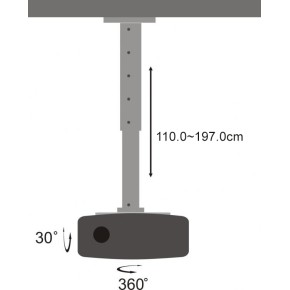 Stropni nosač za projektor SBOX PM-200XL