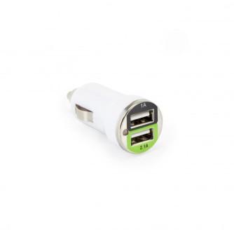 USB AUTO PUNJAČ SBOX CC-221 / 2 ULAZA - 2.1A Bijeli