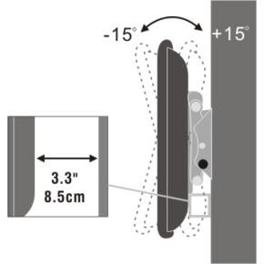 "Zidni nosač za TV od 32"" do 60"" sa nagibom, univerzalni SBOX PLB-111B"
