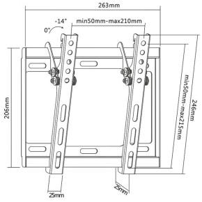 Zidni nosač za TV SBOX PLB-3422T
