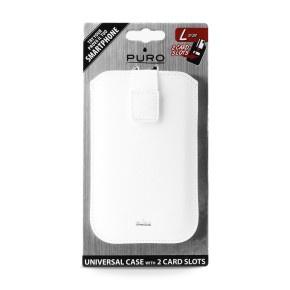 """Univerzalna torbica za mobitele do 4,7"""" L, bijela, Puro Slim Essential"""