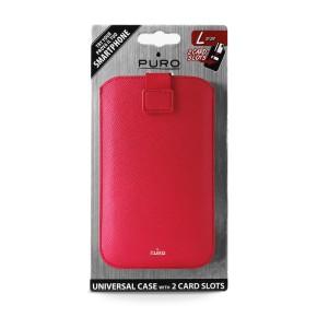 """Univerzalna torbica za mobitele do 4,7"""" L, crvena, Puro Slim Essential"""