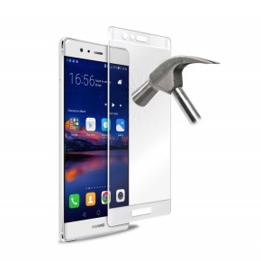 "Zaštitno kaljeno staklo za Huawei P9, 5,2"", bijelo, Puro Premium Full Edge"